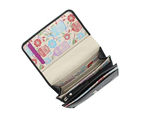 Flap in pelle Mala ORIEL Collection Negli borsa 3287_84 Rosa nero