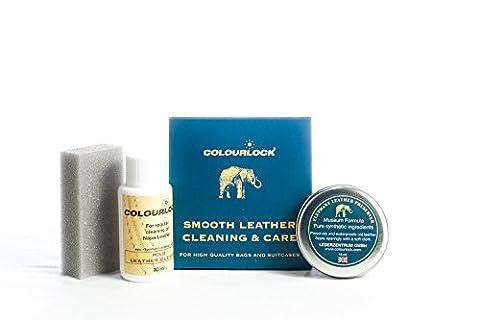 COLOURLOCK Produit nettoyant et après-shampoing pour cuir Sacs à main Kit idéal pour nettoyer, lustrer et protéger les sacs