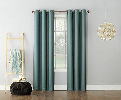 Nr. 918Montego Casual Strukturierte Tülle Vorhang Panel, Grün (Mineral Green), 48