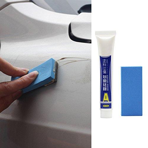 Autokratzer-Entferner, Autokarosserie, leichte Kratzer-Reparatur-Wachs, 25 g, starkes Dekontaminations-Wachs mit Reinigungsschwamm