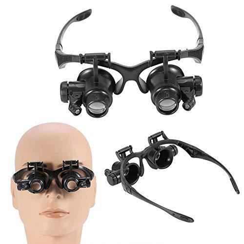Nannday Kopfhalterung Lupe, Double Eye Schmuck Uhrmacher Lupenbrille