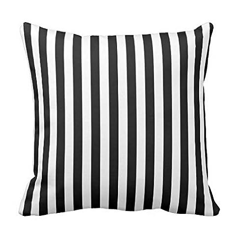 Trendige Überwurf Kissen Fall Schwarz und Weiß Stripe Dekoratives Kissen Cover quadratisch Accent Kissenbezug für Sofa und Couch 45x (Stripe Accent Pillow)