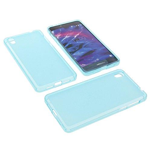 foto-kontor Tasche für MEDION Life X5020 Gummi TPU Schutz Hülle Handytasche blau