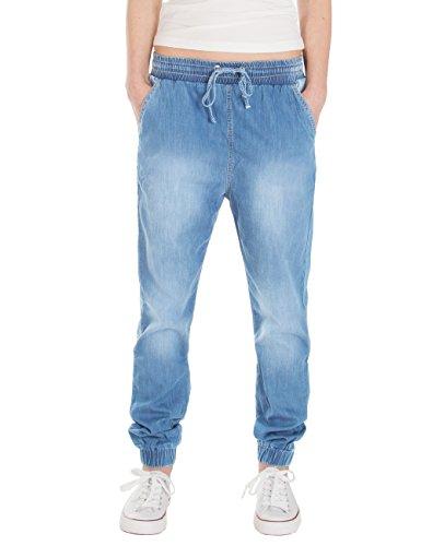Fraternel Jeans donna jogger con caviglie elasticate azzuro chiaro