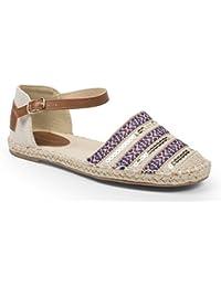 Ideal Shoes - Sandales à bride décorées de broderies et sequins Vaina
