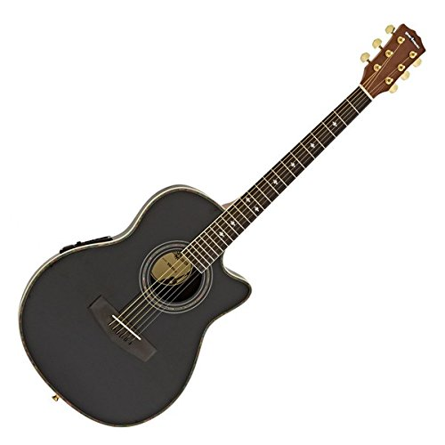 Guitare Électro-Acoustique Roundback par Gear4music Black