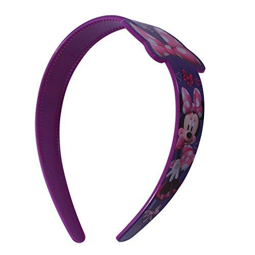 Disney Kunststoff Bedruckte Breite Kopfband mit Schleife Schild-mehrere Zeichen, plastik, minnie maus, 2 Pack