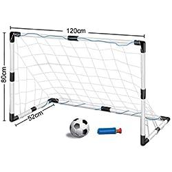Inside Out Toys Cages de Football pour Enfant livré avec Un Filet et Un Ballon 1,20 m de Largeurx0,80m de Hauteur.