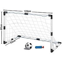 Inside Out Toys Set da Calcio per Bambini - 1 Porta (A 0,8 m L 1,2 m) con Rete e Pallone