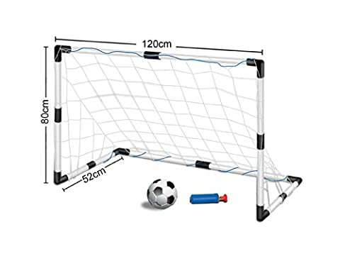 Childrens, Kids Football Goal Set - 1 Goals with Nets and Ball SIZE (1.2m wide x 0.8m tall)