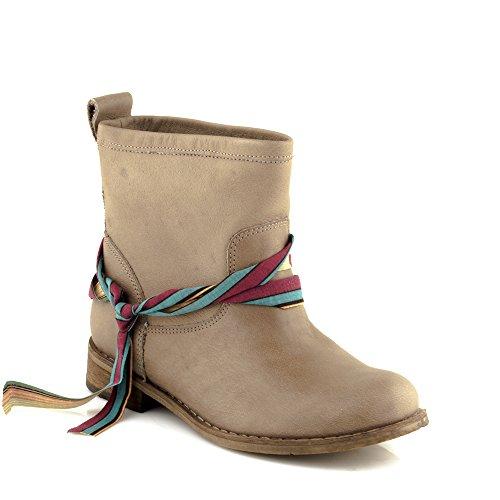 Felmini - Scarpe Donna - Innamorarsi com Beja 9670 - Stivali Classic - Pelle Genuina - Marrone chiaro Marrone chiaro