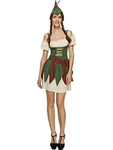 Sexy Waldmädchen Damenkostüm Jägerin beige-grün-braun (Kostüm Jäger Authentische)