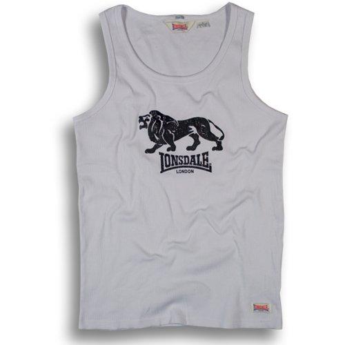 Lonsdale Herren Langarmshirt Singlet T-shirt Slim Fit Rib Foxberry weiß (weiß) Medium -