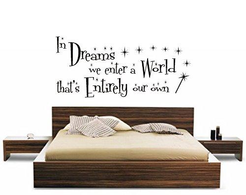 HARRY POTTER-ZITAT DREAMS WORLD GLITZER-KINDER WANDBILD AUFKLEBER-BUCH, Vinyl, 120x60cm