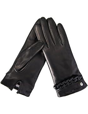 Roeckl Damen Handschuhe Leather Chain Schwarz
