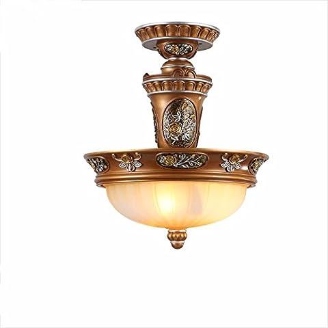 YUENLONG Candelabros de resina Continental salón luz lámpara de araña de hierro idílico restaurante minimalista candelabros antiguos Jane OSCE lámparas de techo 12u oscuridad 37,5*46,5,12u oscuridad