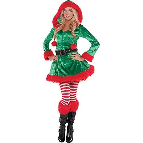 Weihnachtswichtel- Sassy Green Elf- Kostüm Damen Gr. S/ UK 8-10/ D (Damen Elf Dress Fancy)
