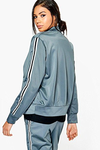 gris Femme Holly Fit Bomber Sport Chic Gris