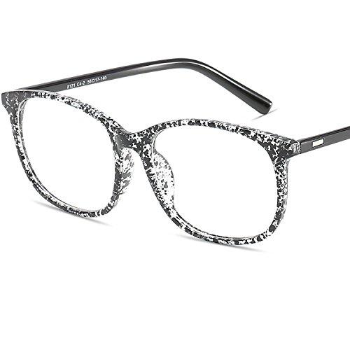 LANOMI Klassische Nerdbrille Brille Brillenfassung Rund Ohne Stärke Streberbrille Hornbrille Retro...