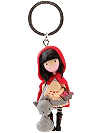 Gorjuss Llavero muñeca Little Red Riding Hood, Color Rojo (82076619830)