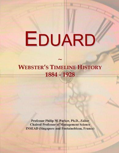 Eduard: Webster's Timeline History, 1884 - 1928
