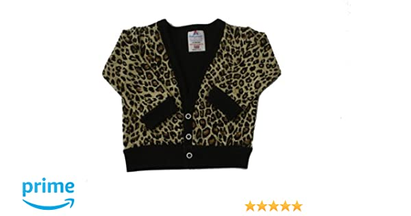 dc7b0d1cfca3 BabywearUK Leopard print Baby Cardigan - Newborn - British made ...
