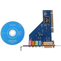 Fácil Conveniente de Usar 4 Canales 5.1 Tarjeta de Sonido de Sonido Envolvente 3D PCI de 15 Pines para PC Windows XP/Vista / 7