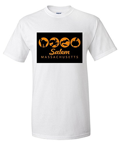 Salem, Massachusetts - Halloween Quad (Premium T-Shirt)