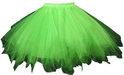 Happydress® petticoat Crinoline hoopless tutu 50s Underskirt Slips tulle dress tutu tulle petticoat a line retro dress 50s Vintage Strassenmode Petticoat rockabilly tutu streetwear petticoat ()