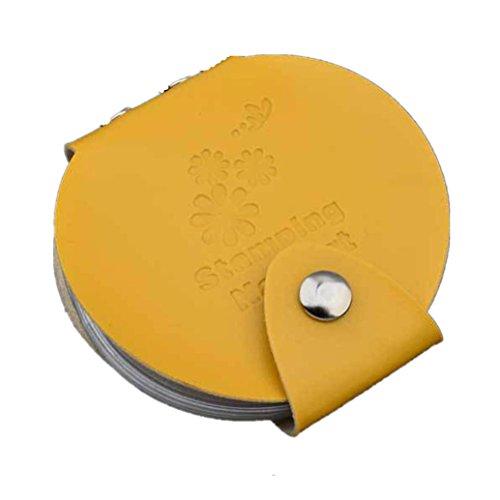 Stampaggio arte DIY del chiodo del piatto di immagine Holder Modello di sacchetto filtro di Stamp Organizer(Giallo), Fami