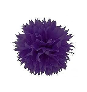 HL Pompon papier de soie fleur Violet