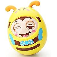 Newin Star Tentetiesos,Juquete de Tentetieso para los Niños y Bebé con Sonido diseño de Abeja Linda (Amarillo)