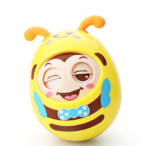 Roly-Poly Stehaufmännchen, Spielzeug für Babys und Neugeborene, Beißring-Spielzeug mit Glocke, Wackelpuppe, originelles Lernspielzeug