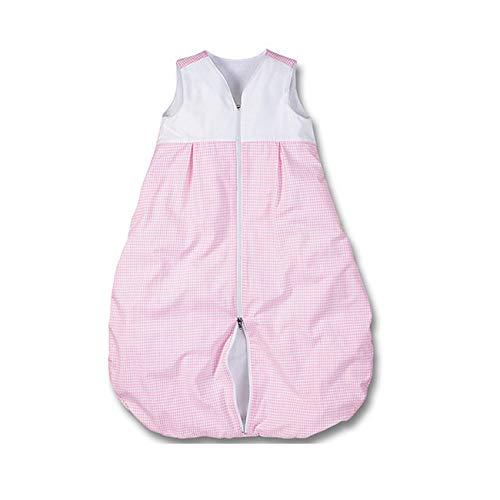 wellyou gigoteuse bébé, laine polaire, rose, carreaux Vichy taille 56-122