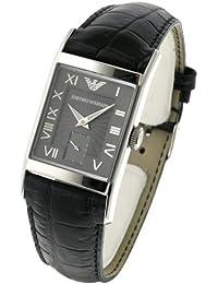87dc21541359 Armani correa de reloj AR-0247XL Piel de cocodrilo Negro 22mm(Sólo reloj  correa