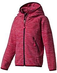 McKinley Chaqueta Polar con Capucha Choco II para niña, Otoño-invierno, niña, color rosa, tamaño large