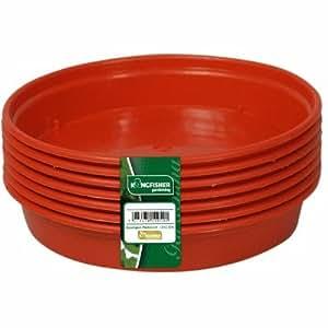 10 pack plastic plant pot saucers drip trays garden outdoors. Black Bedroom Furniture Sets. Home Design Ideas