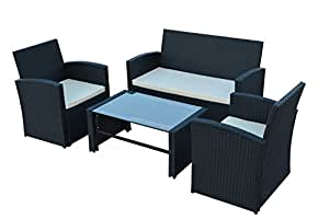 poly rattan gartenm bel gartengarnitur balkonm bel set gm11pra braun. Black Bedroom Furniture Sets. Home Design Ideas