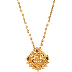 1 Gram Gold Plated Lakshmi Pendant Without Chain