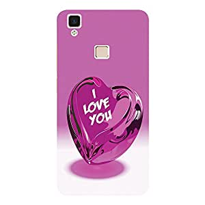 Pink Heart - Mobile Back Case Cover For Vivo V3 Max