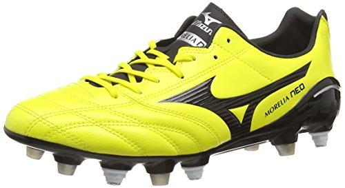 Mizuno Morelia Neo PS Mix, Scarpe da Rugby Uomo, Giallo (Yellow (Bolt/Black)), 40 EU