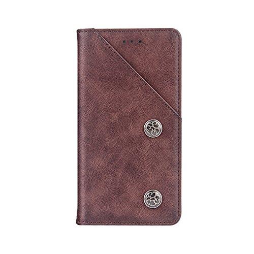 Wendapai OnePlus 6T Hülle, OnePlus 6T Leather Case Folio Flip Hülle Ersatz schlank Hülle zum OnePlus 6T ()