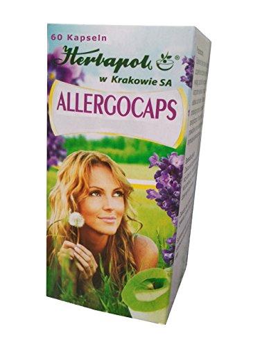 Allergocaps - bekämpfen natürlich effektiv Allergie jeder Art, mit Extrakt aus Perilla Samen, natürliches Mittel bei Pollen-, Milben- Nahrungsmittelallergie, Katzenhaare, Tierhaare Allergie, Heuschnupfen, 60 Kapseln, ersetzen Allergietabletten, Allergie Nasenspray, augentropfen. Wir empfehlen den Allergofix Tee, der auch zuverlässig wirkt.