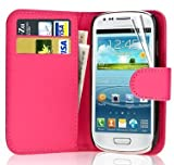 Leather Wallet Flip Case Cover for Samsung Galaxy Fame GT-S6810L / GT-S6810P