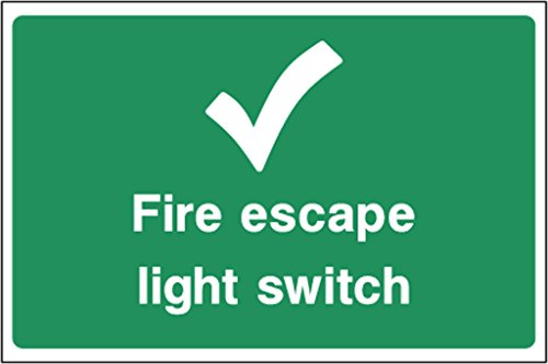 Notausstieg Aufkleber Fire Escape Light Switch