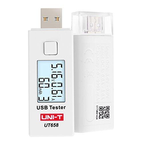 UNI-T UT658 USB Tester Voltmeter Amperemeter Digital LCD Spannung Monitor Strom Meter Kapazität Tester