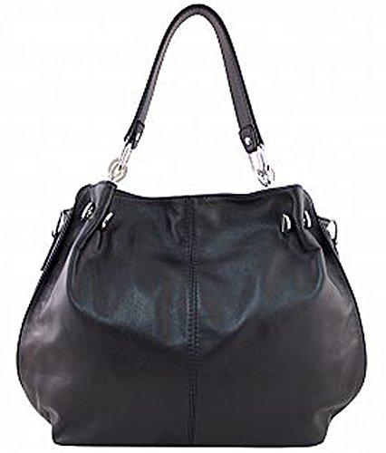 G&G PELLETTERIA , Sac pour femme à porter à l'épaule noir