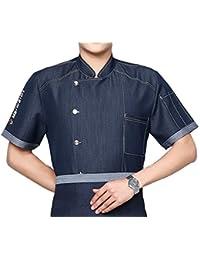 a133fd046b Camisa de Cocinero Manga Corta Mezclilla Unisexo