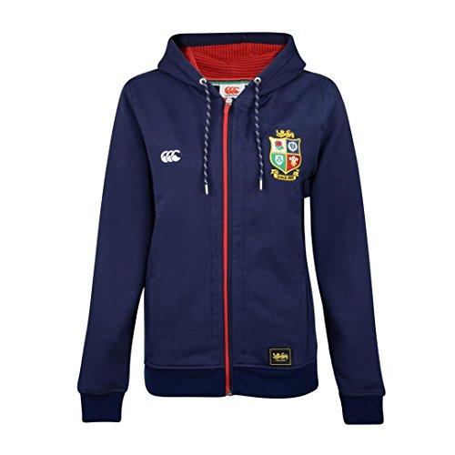 British & Irish Lions 2017 Ladies Full Zip Hooded Rugby Sweat - Peacoat Blue - size 8 Irish Womens Zip Hoodie