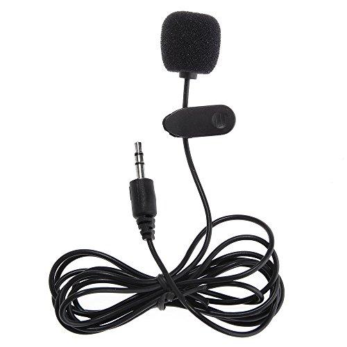 FACILLA Mini Microphone MIC Micro-cravate Jack 3.5mm Pince Clip pour PC Netbook Lapto